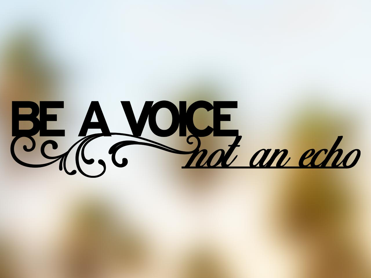Be a Voice Not an Echo color